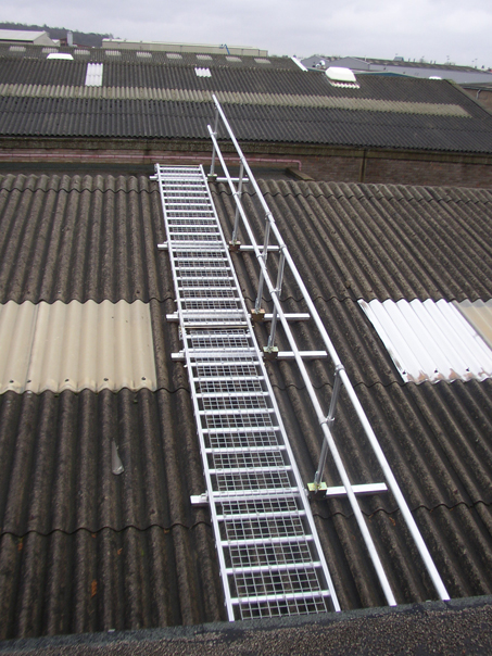 Lightweight Aluminium Walkway Roof Edge Fabrications