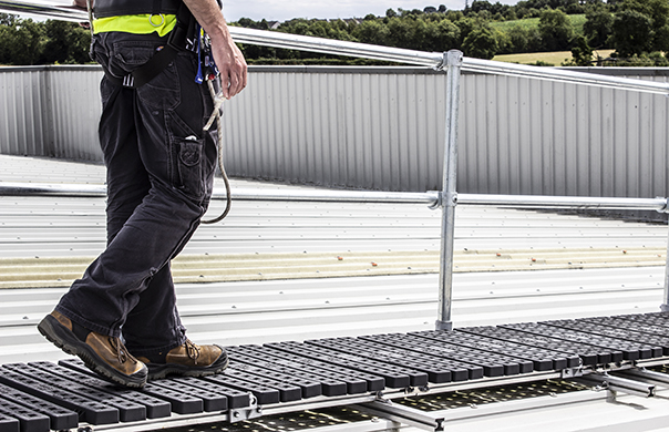 New Fully Protected Walkway System   Roof Edge Fabrications