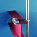 Class 3 Postanka with solid adjustable height pedestal clamps around wooden or steel beams.