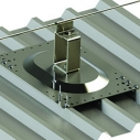 Upright post for profiled sheet roofs