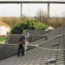 Safe work on sloping roofs