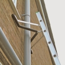 Ladder Stand-Off alllows safe access corners, obstacles, eaves and up onto roof edges